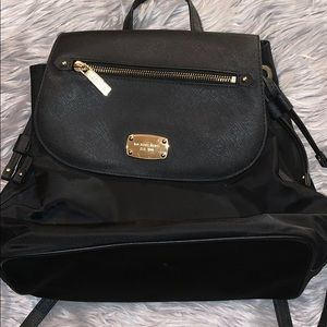 Michael Kors Bedford ZIP Black Backpack Large